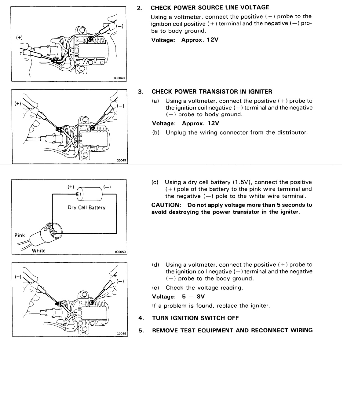 r ignition coil wiring diagram r image wiring 86 toyota 4x4 22re engine started worse the more i drove it on 22r ignition coil
