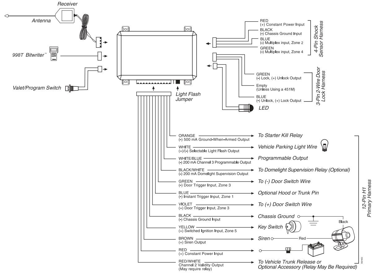 Viper 350hv Wiring Diagram: i need a wiring diagram for a viper 350 HV alarm system ,
