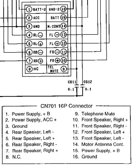 panasonic car stereo wiring diagram for 2007  panasonic