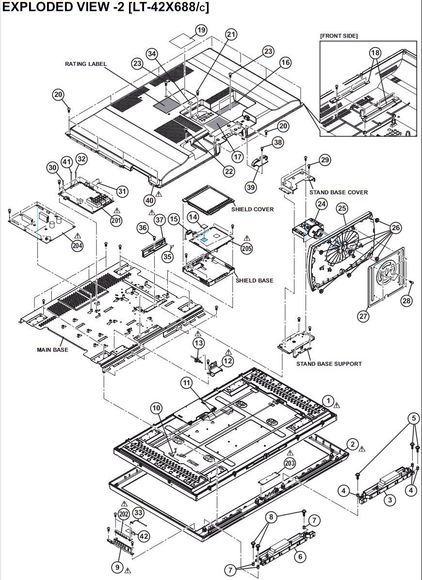 i have a jvc lt 42x688 lcd tv and a few days ago the. Black Bedroom Furniture Sets. Home Design Ideas