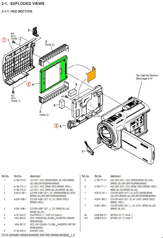 i have a sony dcr sr68e camcorder which shows an errror