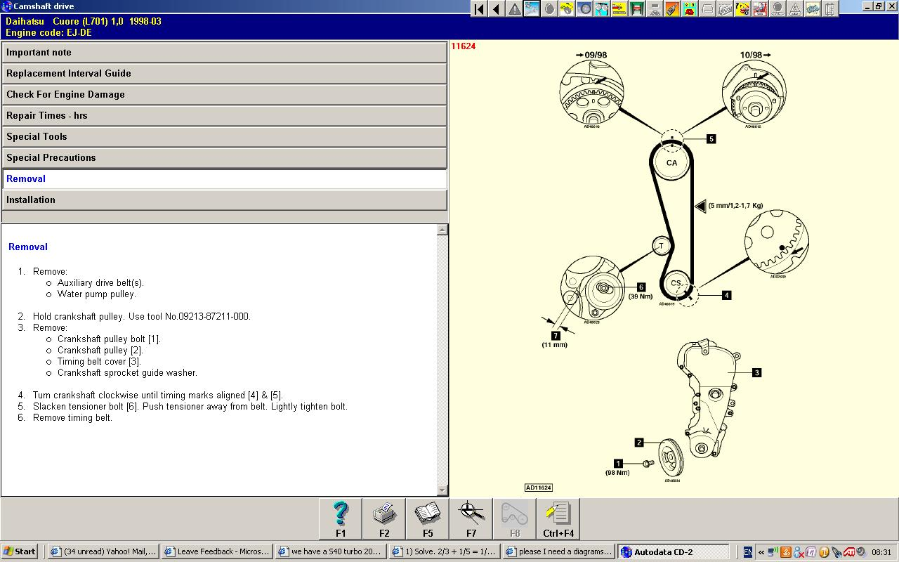 Daihatsu Timing Belt : Please i need a diagrams of timing belt and cam chat