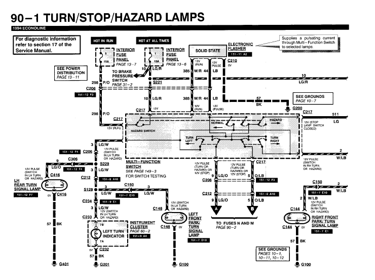 ford e 350 tail light wiring diagram