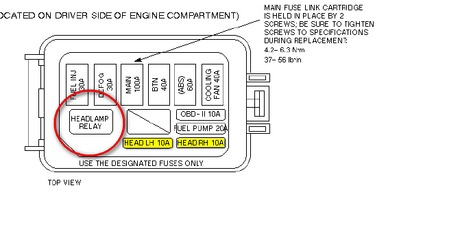 2010 f150 headlight fuse location