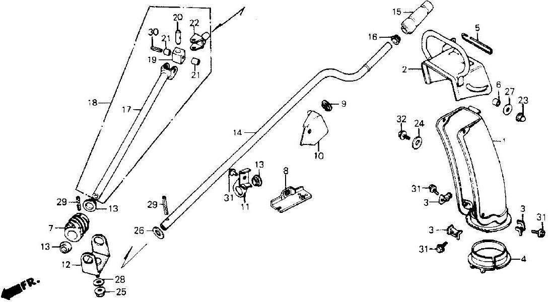 honda hs55 snowblower parts diagram