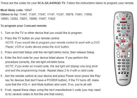 comcast cable tv program codes rushtodaydz over blog com Comcast Remote Setup comcast digital adapter remote control setup