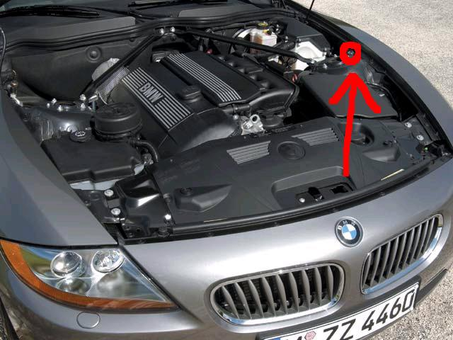 bmw battery location under hood on  bmw  free engine image