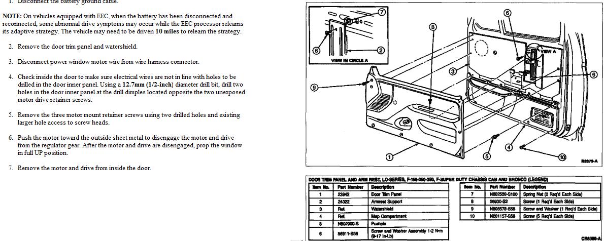 ford f150 door latch diagram
