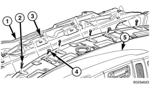 Diagram    or shetch how to replace a evaporator of a    dodge       ram    1500 year 2007