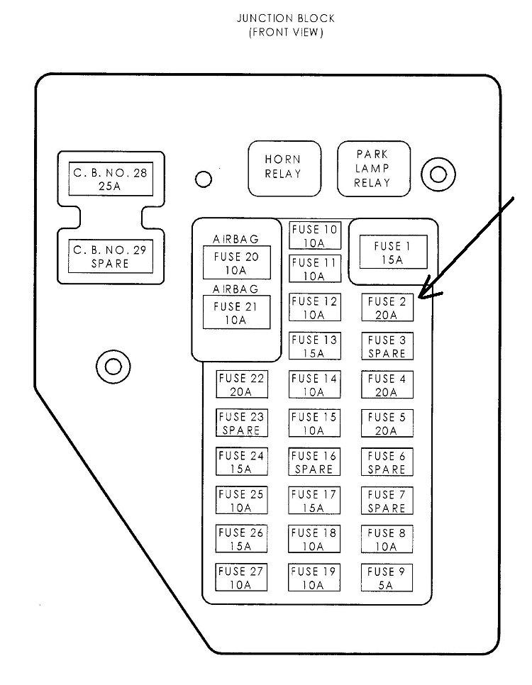 2006 dodge durango fuse block layout
