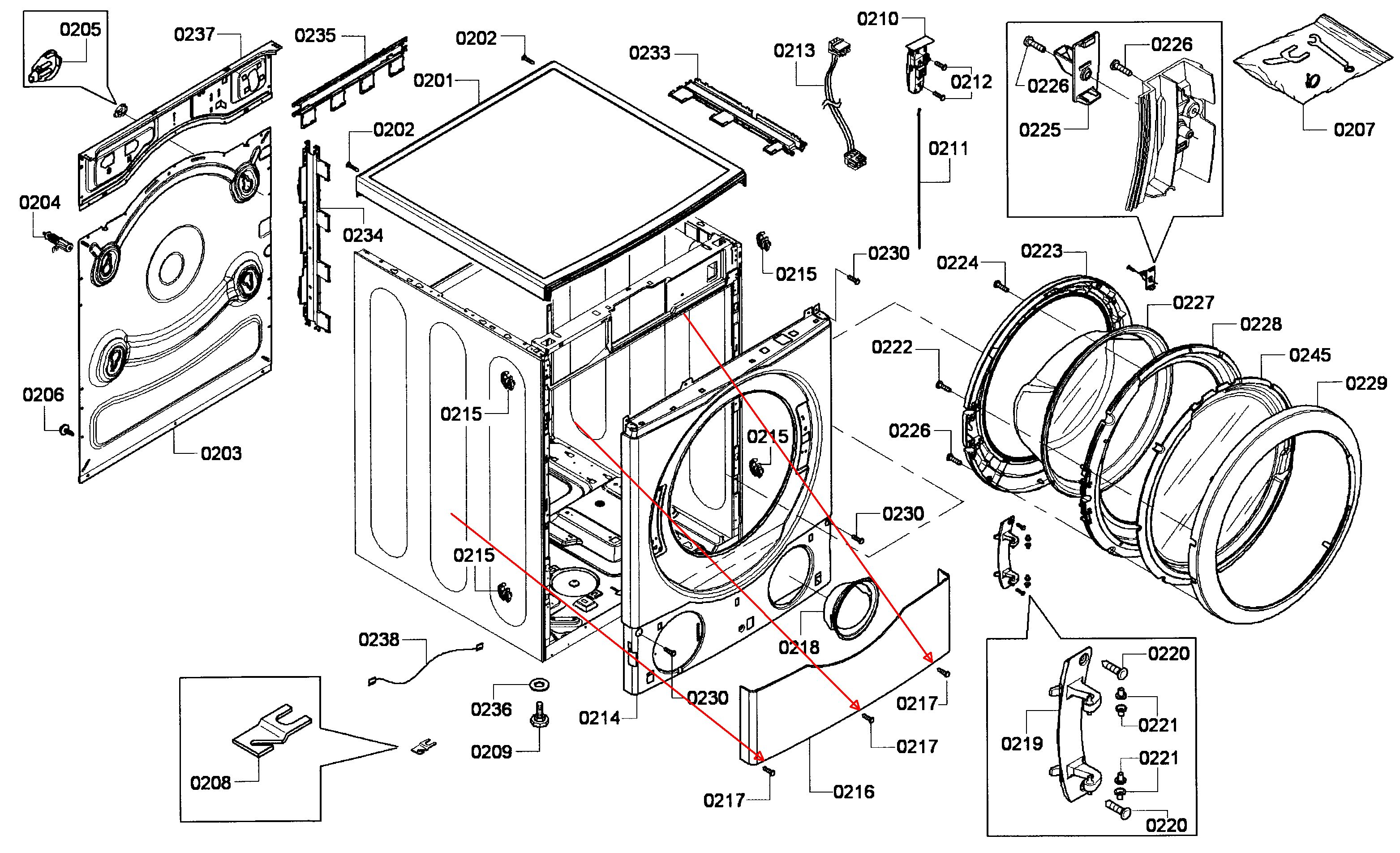 Front Load Washers  Lg Front Load Washer Parts Diagram