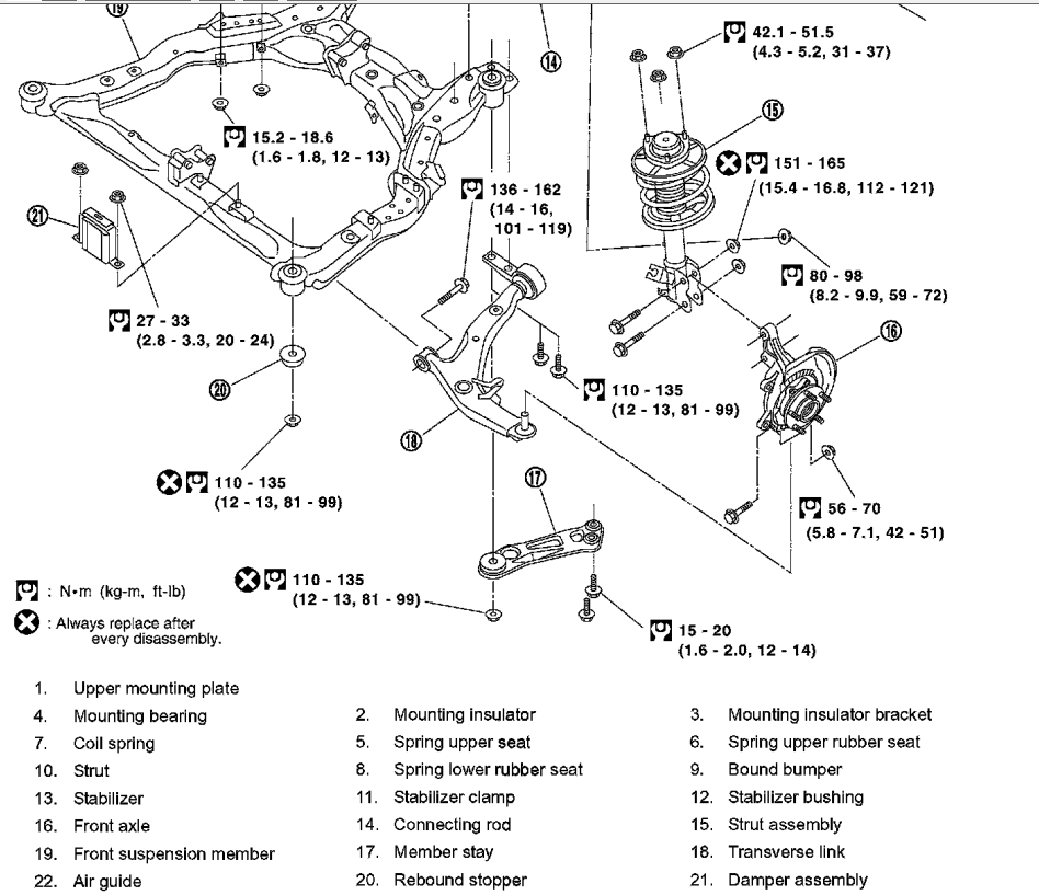 nissan murano strut diagram nissan free engine image for user manual