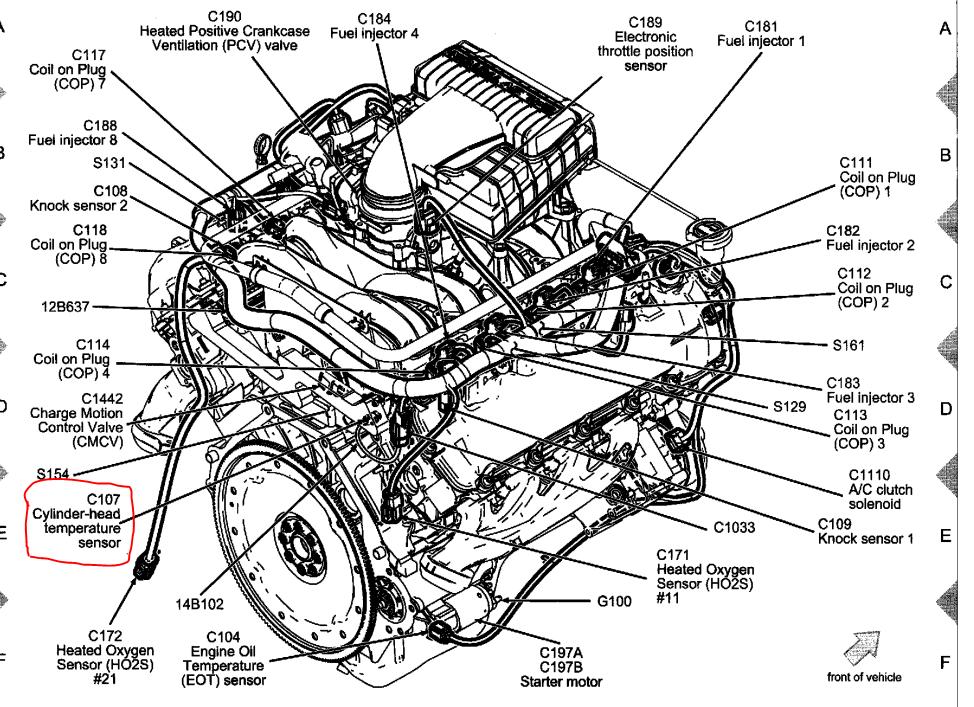 4wya0 Ford F 150 Lariat 4x4 2006 Ford F 150 4x4 Cecked on Ford F 150 Coolant Temperature Sensor Location