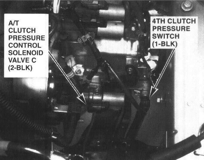 Honda odyssey ex where is 4th clutch transmission fluid pressure