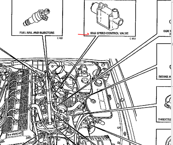 jeep wrangler iac valve location  jeep  free engine image