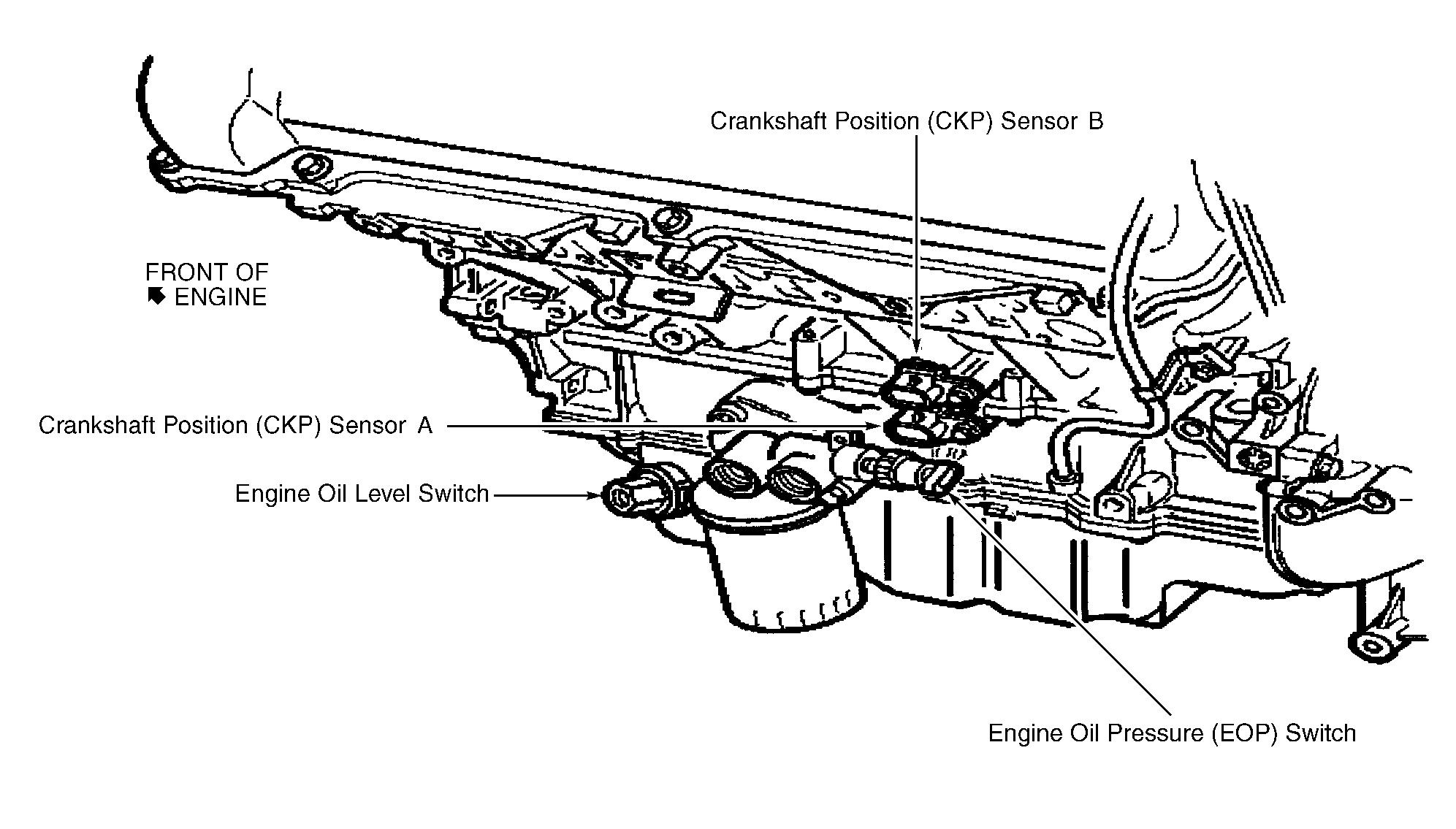 cadillac cts 2003 oil pressure sensor location