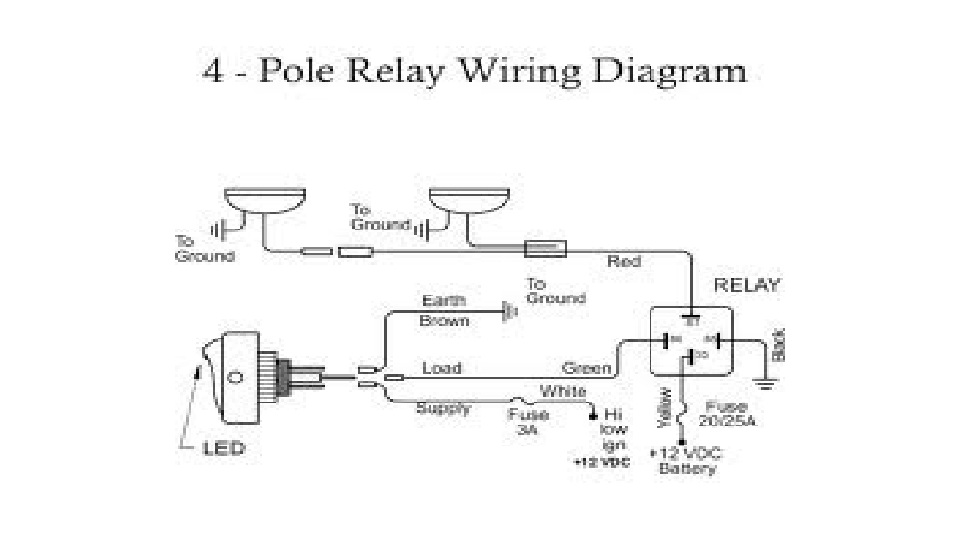 Fog Light Wiring Diagram With Relay : Switch furthermore fog light relay wiring diagram horn