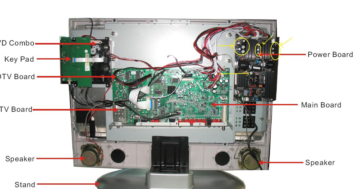 color filter lcd tv diagram lcd tv diagram components i am having trouble turning on my akai lcd tv/dvd. i will ...