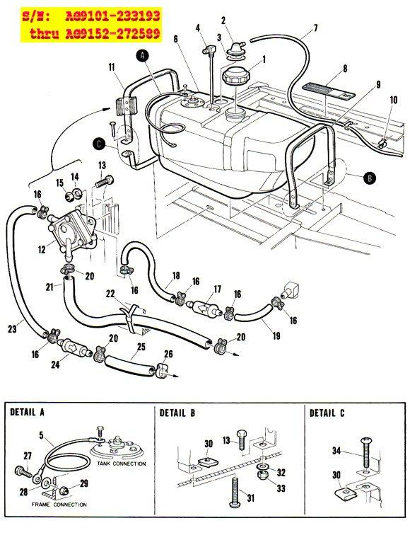 club car motor diagram i have a 1986 club car golf cart with a leaky gas tank. i ... #1