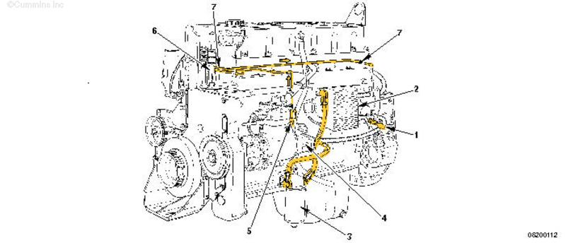 m11 fuel system tubing diagram  m11  free engine image for