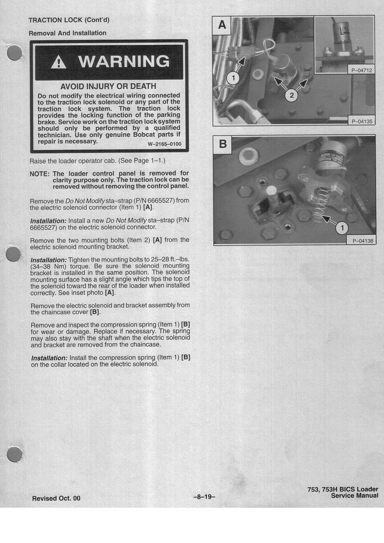 Bobcat Traction Lock Diag Pg