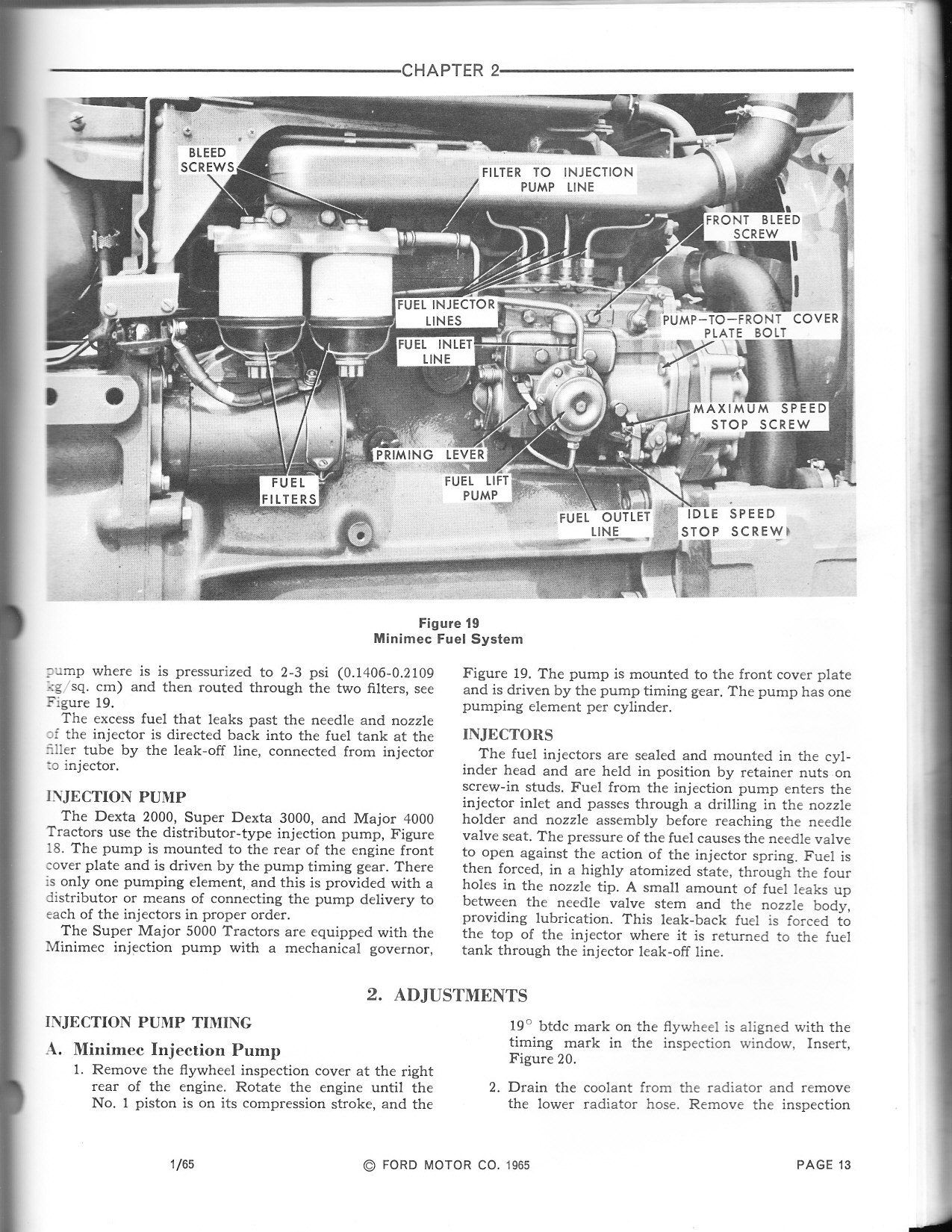 Ford 3000 Tractor Fuel System : Bleed fuel lines ford tractor