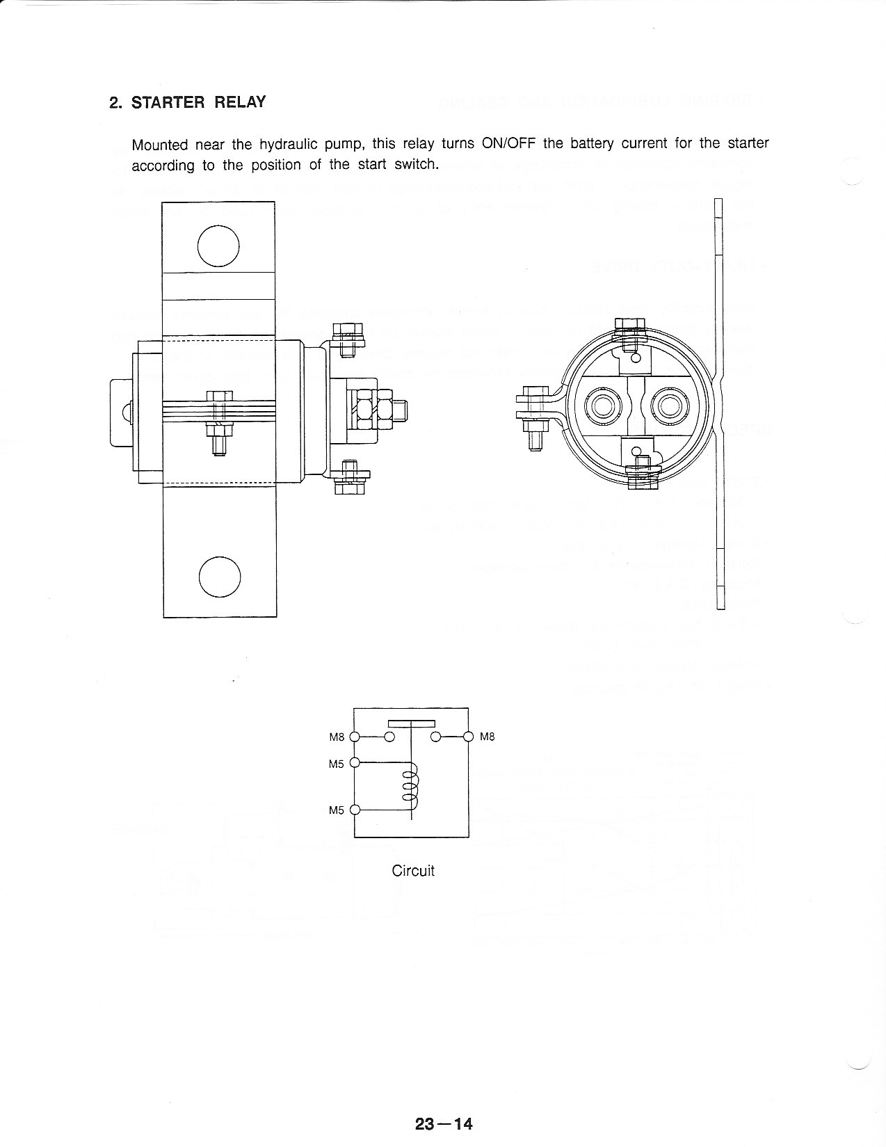 wiring schematic for the starting system on a samsung excavator let try this again thanks dan