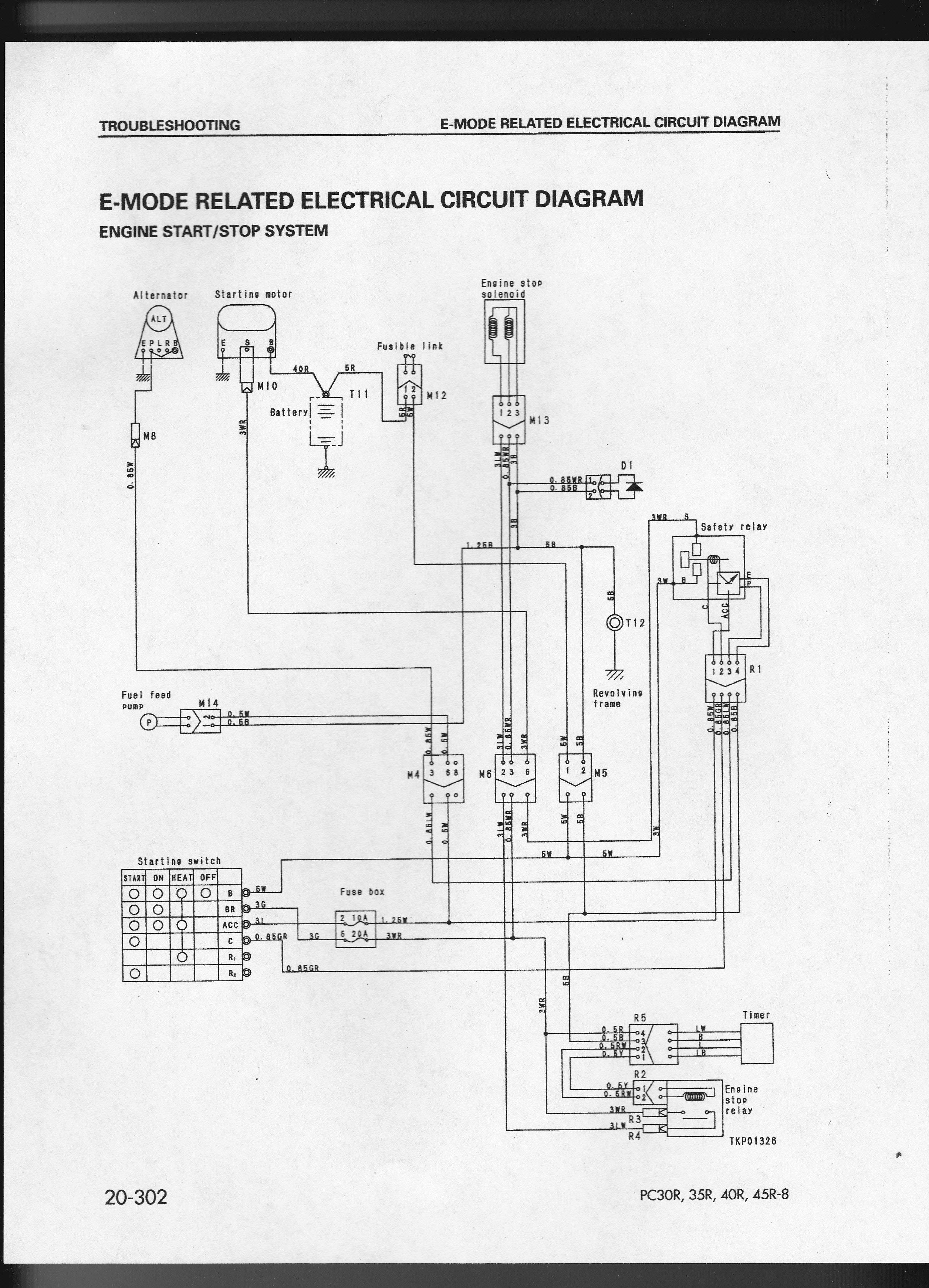 komatsu pc 120 wiring schematics komatsu pc-40-8 mini excavator the machine wont start. no ...