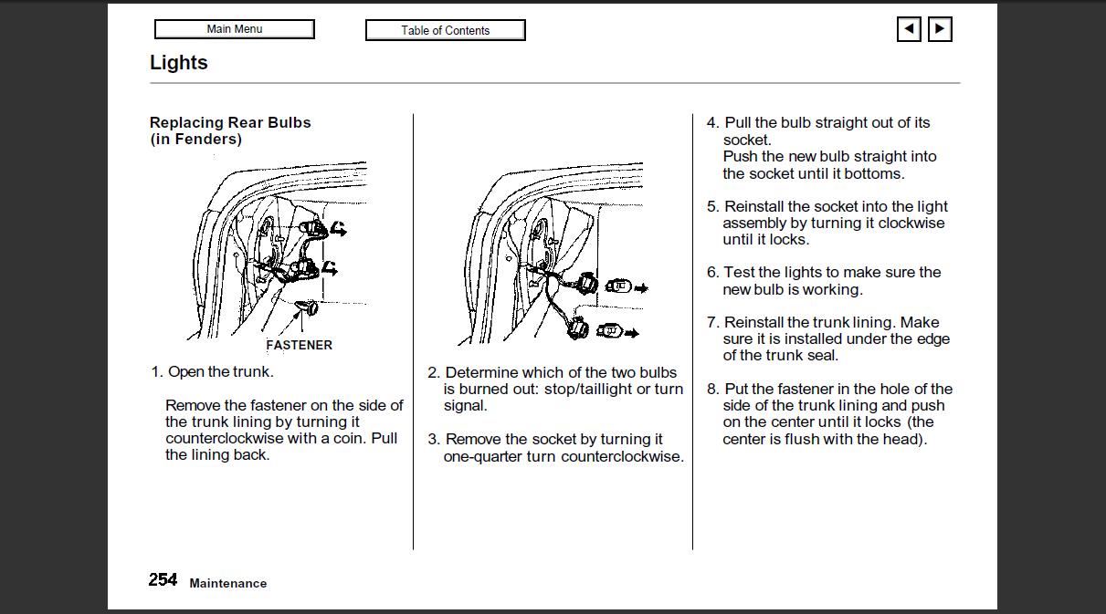 How to change brake light honda accord 2010