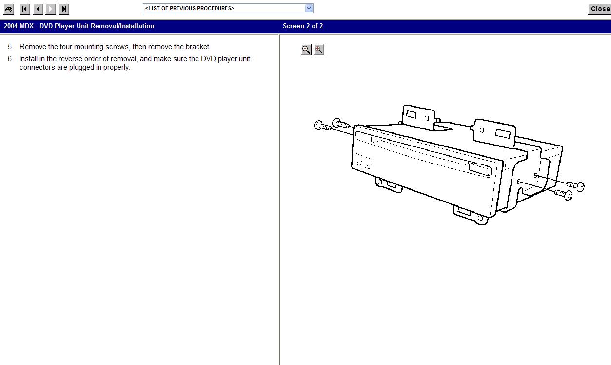 03 acura mdx cd rom diagram  acura  auto parts catalog and