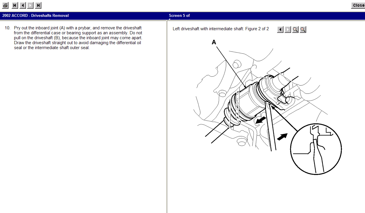 I Need Instruction On How To Replace A Cv Joint On The Passenger Side Of A 2002 Honda Accord And