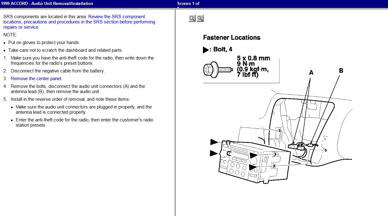 I Need The Radio Code For My 1999 Honda Accord Had