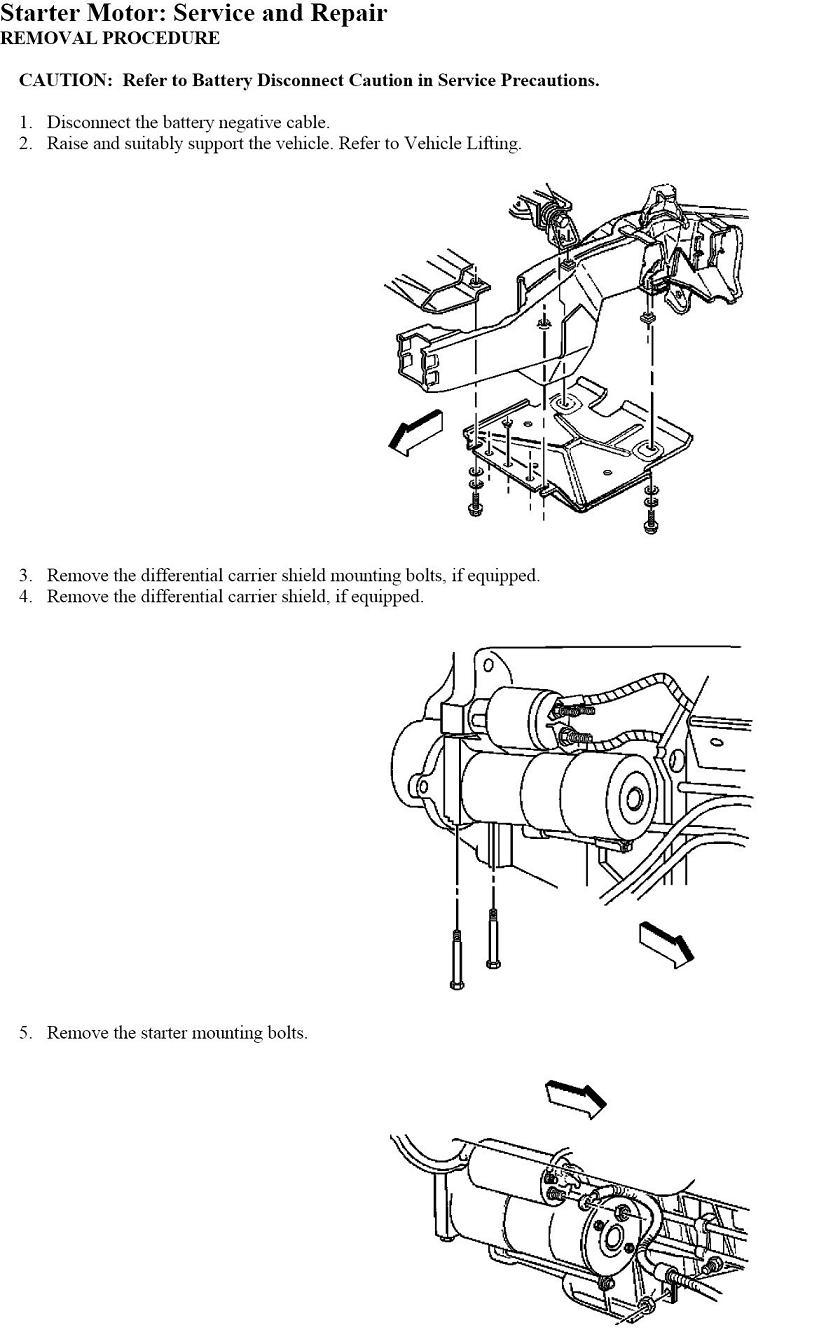 how do i replace the starter motor on my 2003 blazer