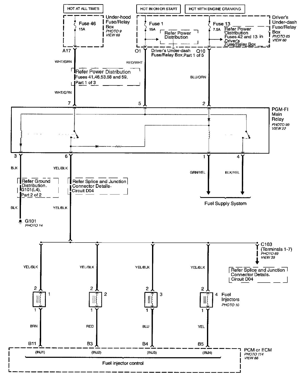 Honda Stereo Wiring Diagram : Honda accord wiring diagram free engine image