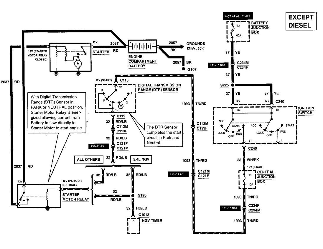 2000 ford e250 fuse diagram replaced bad starter but my 2000 e250 will not start. when ...