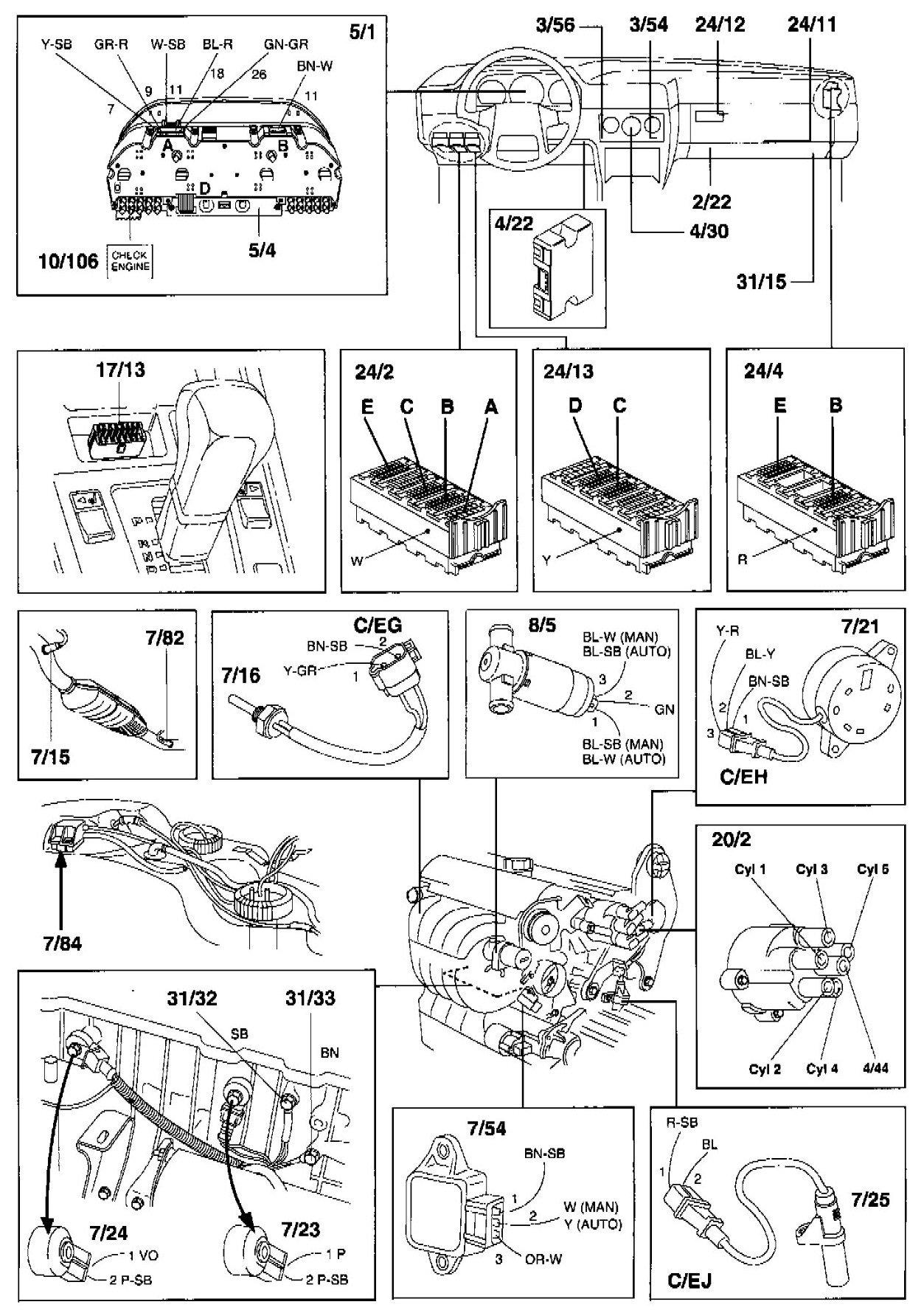 volvo v70 wiring diagram 1998 wiring diagram 1998 volvo v70 glt i have 1998 volvo v70 glt -cooling fan does not come on ...