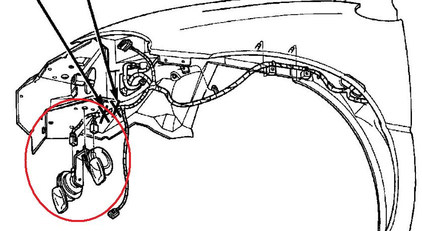 where in the motor of a plymouth grand voyager 1999 i can find the horn