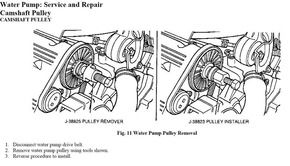 cadillac northstar water pump pulley