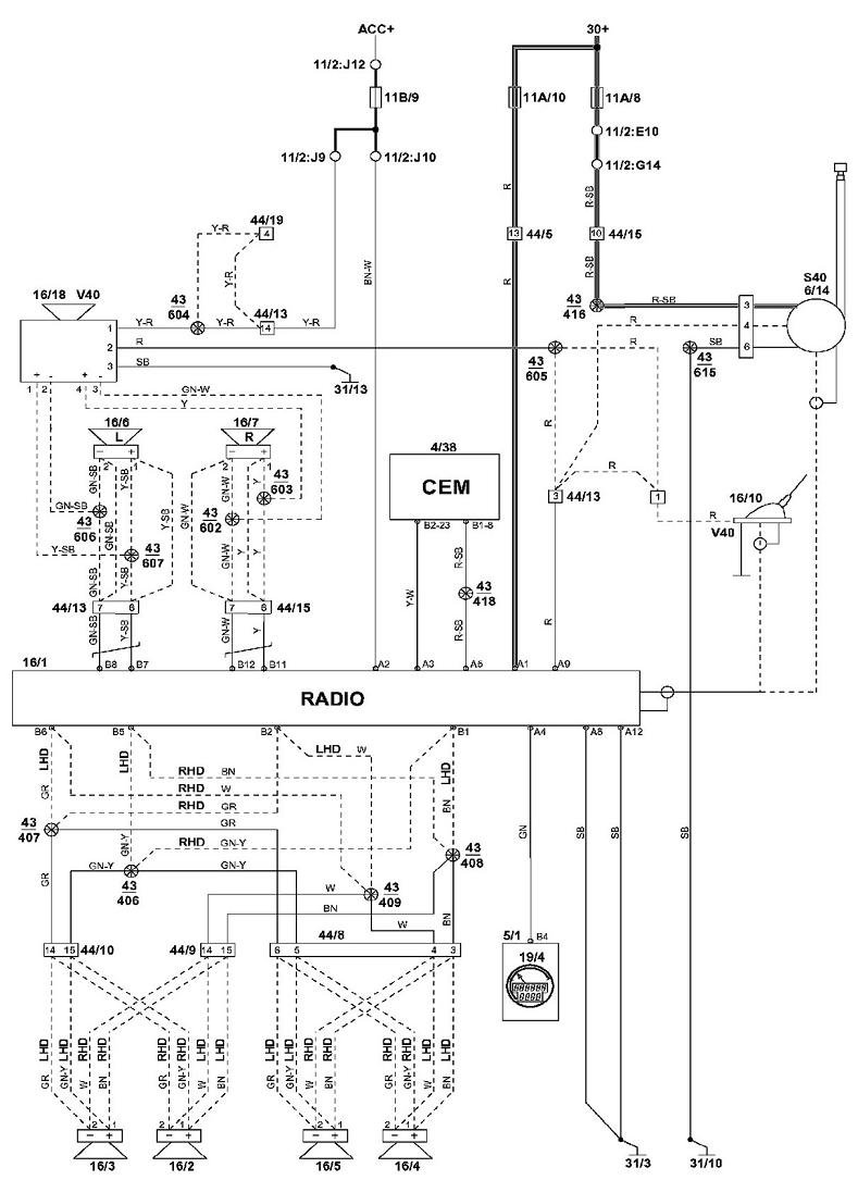 Volvo S40 Wiring Diagram Pdf : Volvo s i am installing an amp and a mtx re q