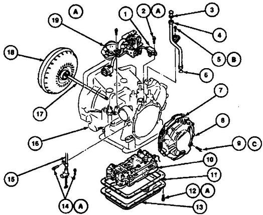 2001 ford escort transmission diagrams
