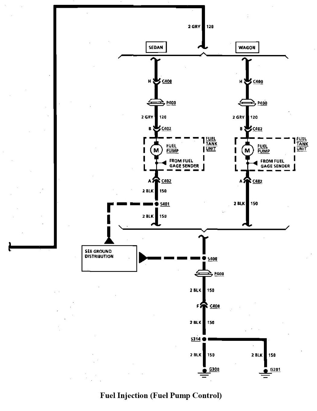 What Is The Wiring Diagram For The Fuel Pump On A 1992