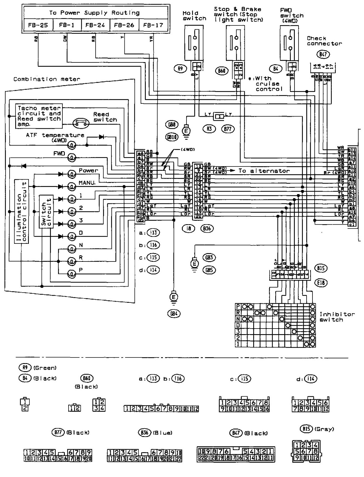 2000 subaru outback engine wire diagram