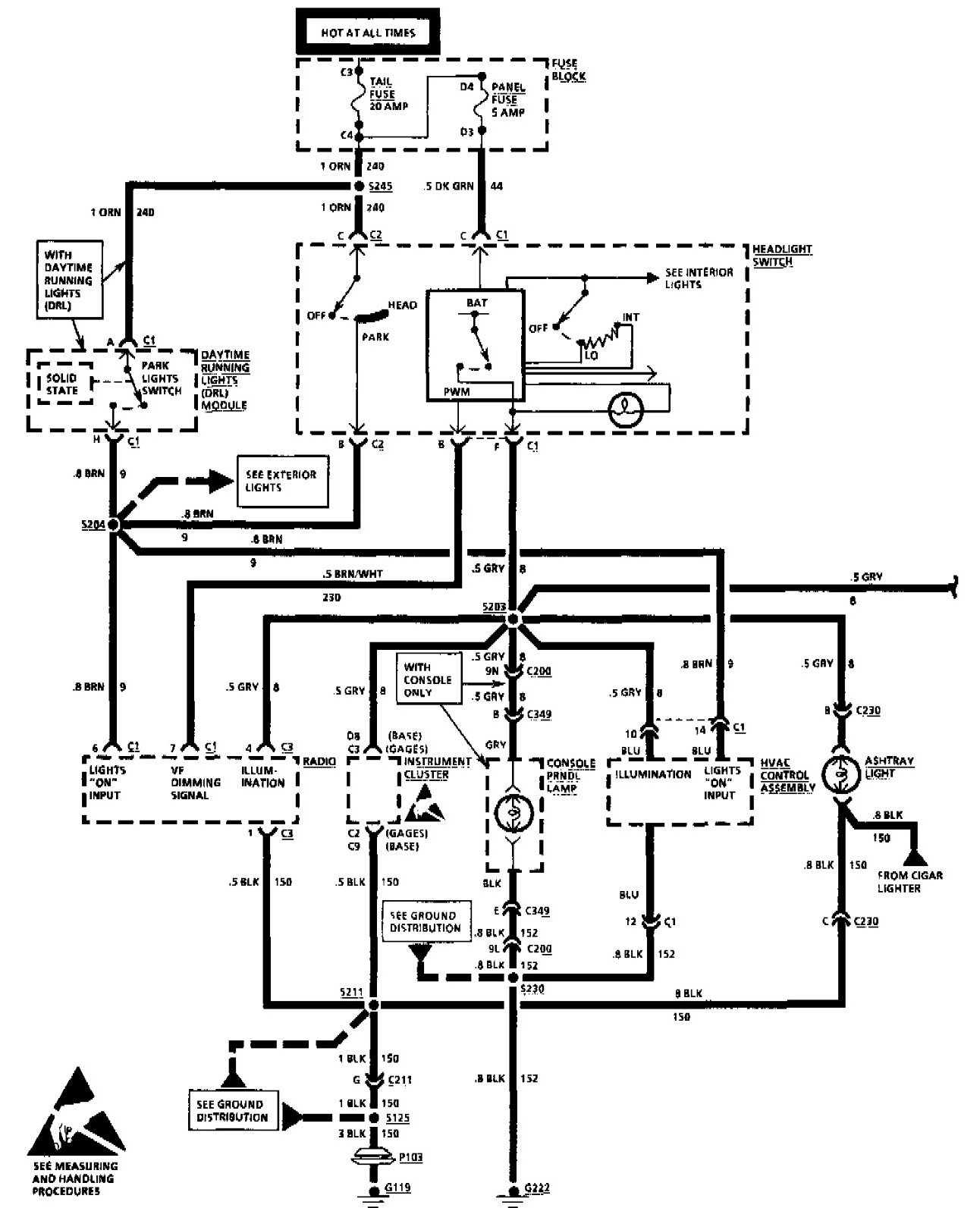 chevy lumina radio wiring diagram after installing an after market stereo in a '94 chevy ...
