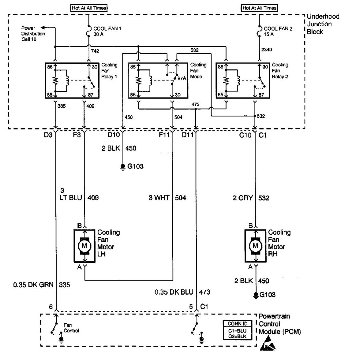 Radiator Fan Wiring Diagram : Malibu cooling fans wiring diagram