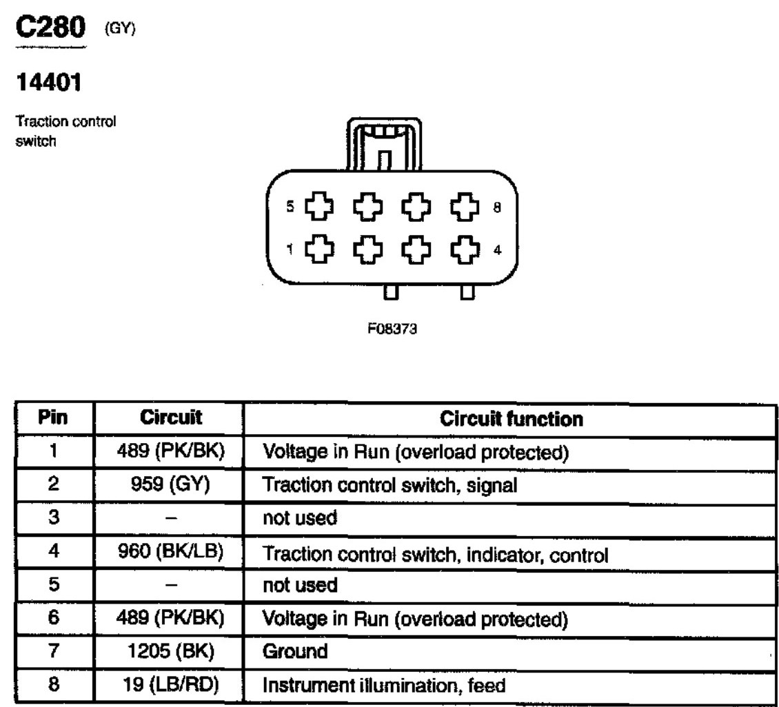 2003 ford mustang traction switch wiring diagram terminal