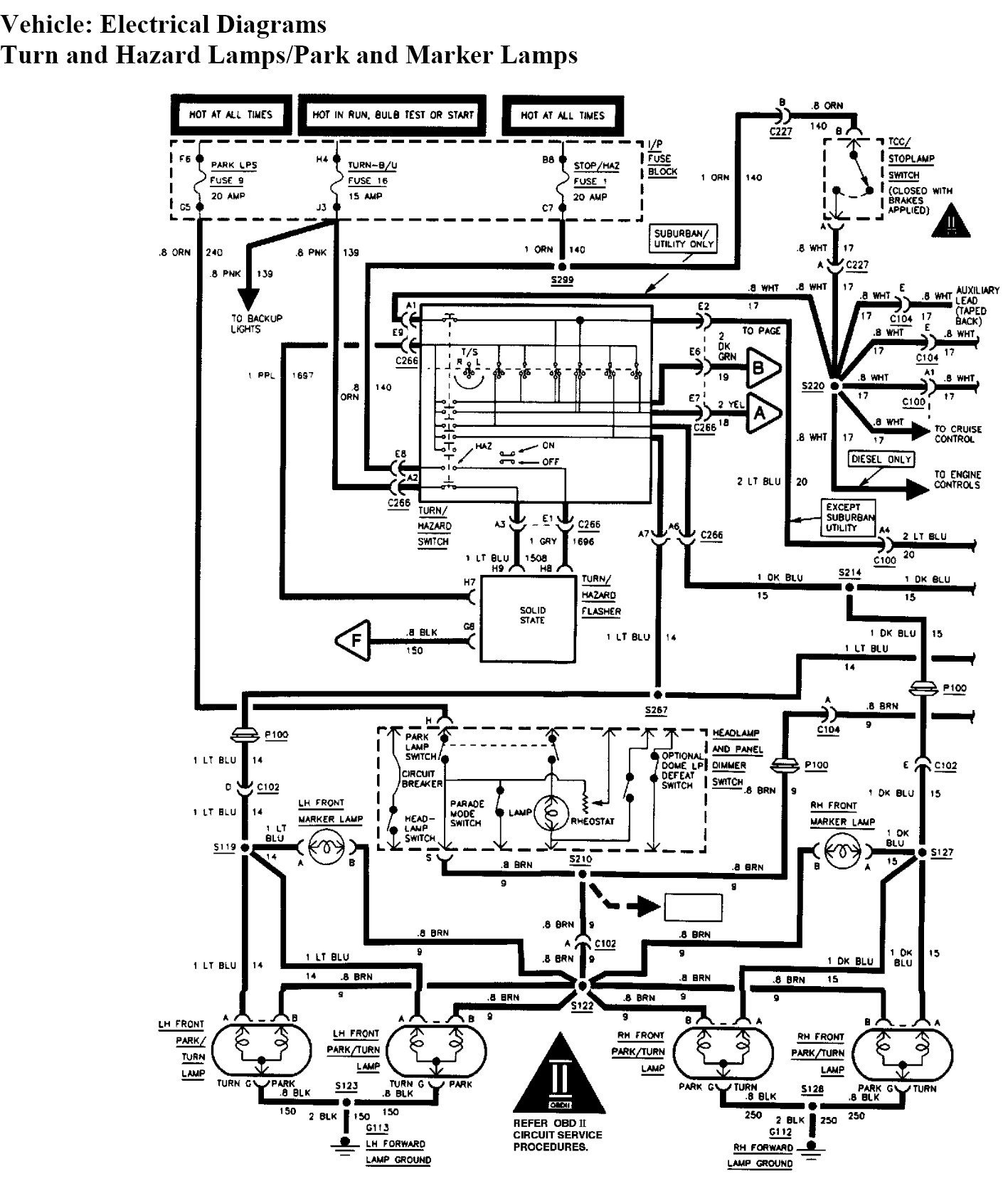 Chevrolet Tracker Wiring Diagram Body Custom Project Atv Schematic Hondatz400es What Can Cause My Brake Lights On 1997 Chevy Tahoe Not