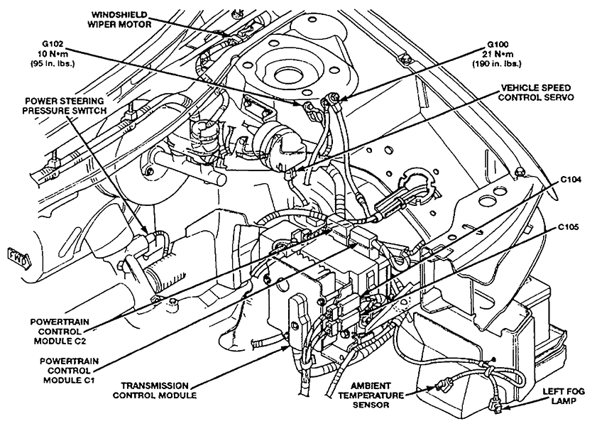 dodge stratus fuse box diagram