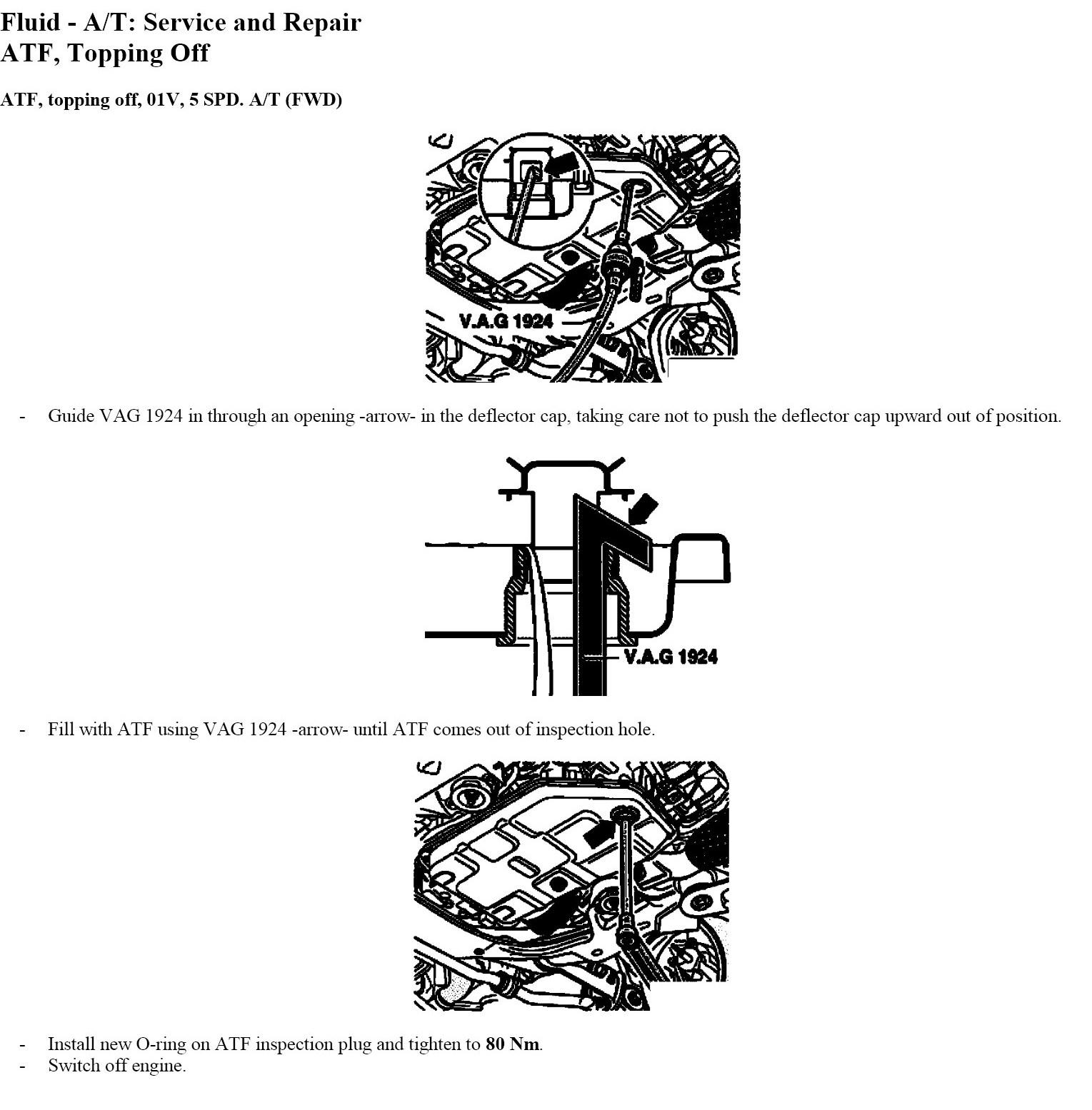 2010 Volkswagen Passat Transmission: 2004 VW Passat. Drained Transmission Oil By Mistake