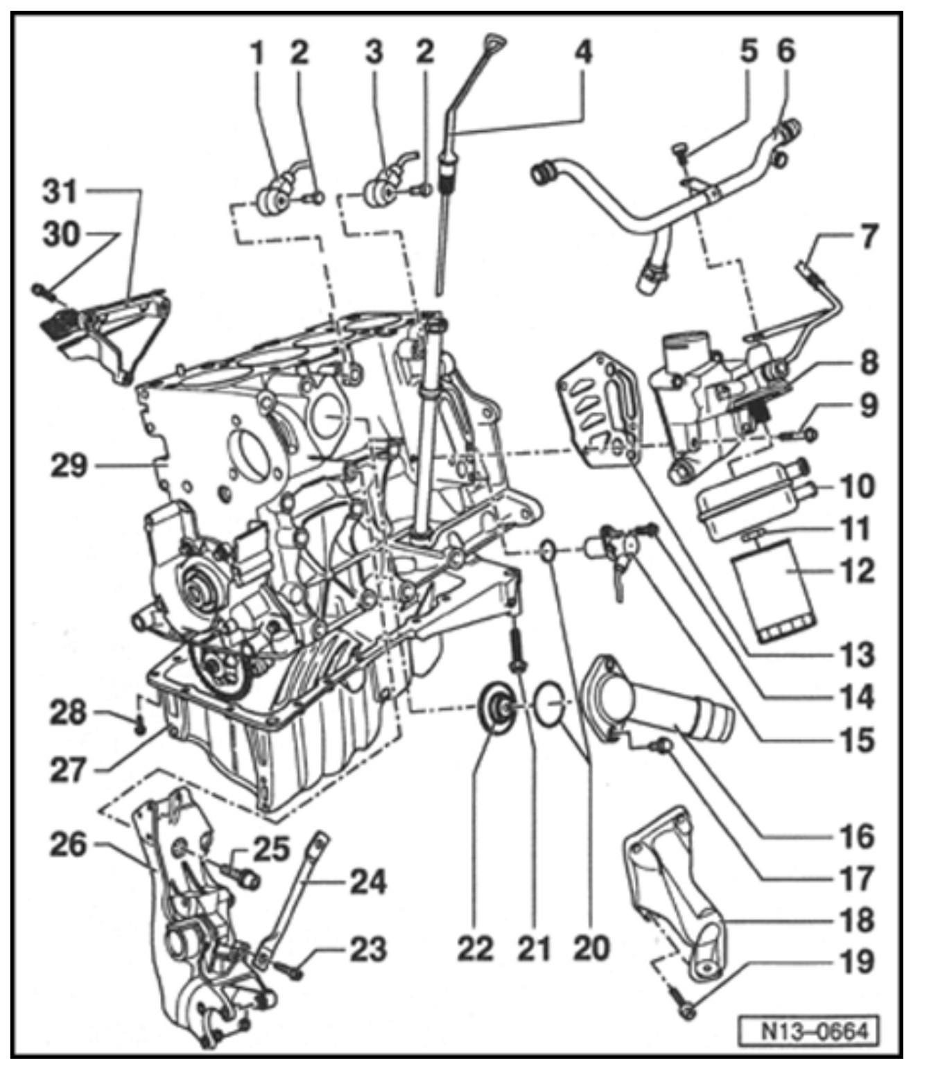 2003 vw jetta 2 0 thermostat location