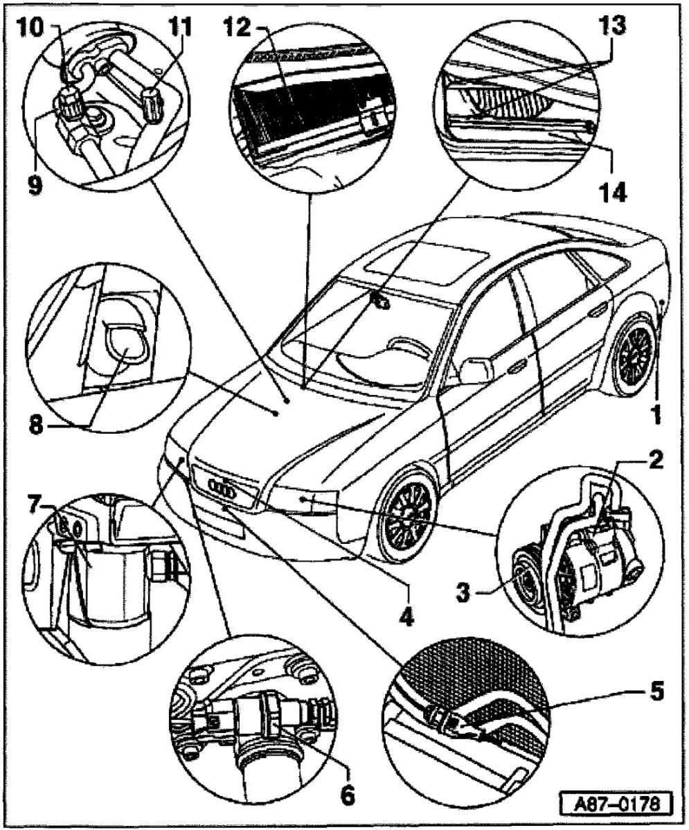Audi A6 Air Con Wiring Diagram Real 2001 Engine Picture I Have An 99 Quattro And The Conditioner Was Parts